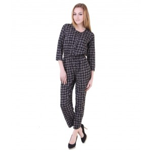 Black Polyester Jumpsuit
