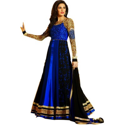 Georgette Self Design Semi-stitched Salwar Suit