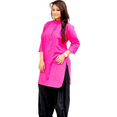 Solid Women's Pathani Kurta