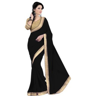 Self Design Fashion Chiffon Sari