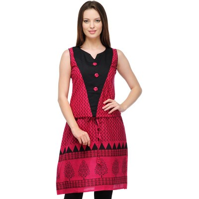 Casual Sleeveless Printed Women's Kurti