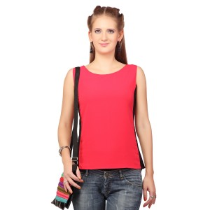 Polyester Colour Block Sleeveless Top