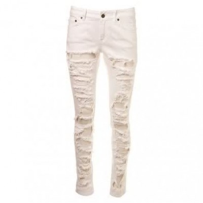 Cuffed Tampered Skinny Jeans