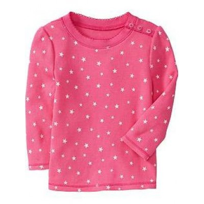 Girls bright pink chiffon full sleeve top