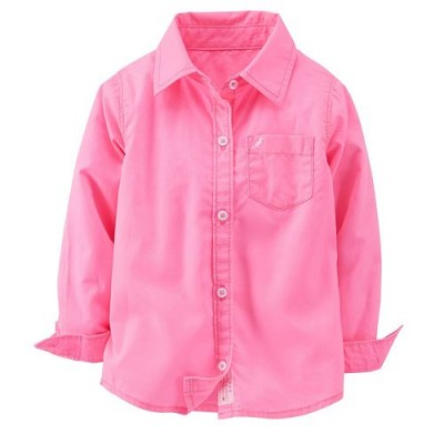 Solid Button-Front Shirt - Toddler