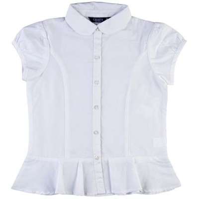 Peplum Woven School Uniform Shirt