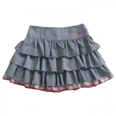 Grey layered skirt
