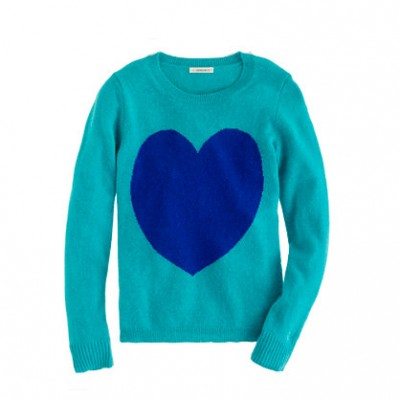 Heart High-Low Tunic Sweaters