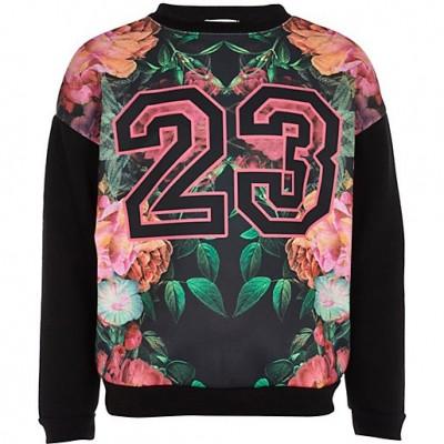 Girls Printed Faux Mushy Sweatshirt