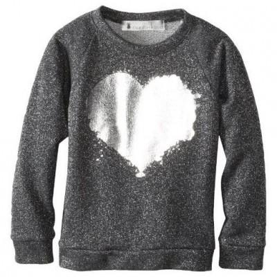 Girls Grey Peace Heart Sweatshirt