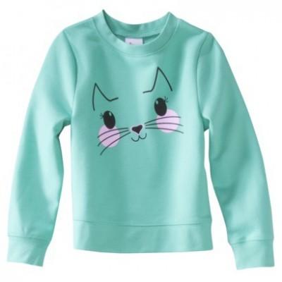 Girls Blue Pika Sweatshirt