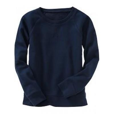 Black Front Long Sleeve Sweatshirt